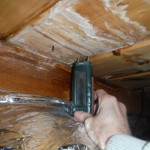 Water leaking into attic